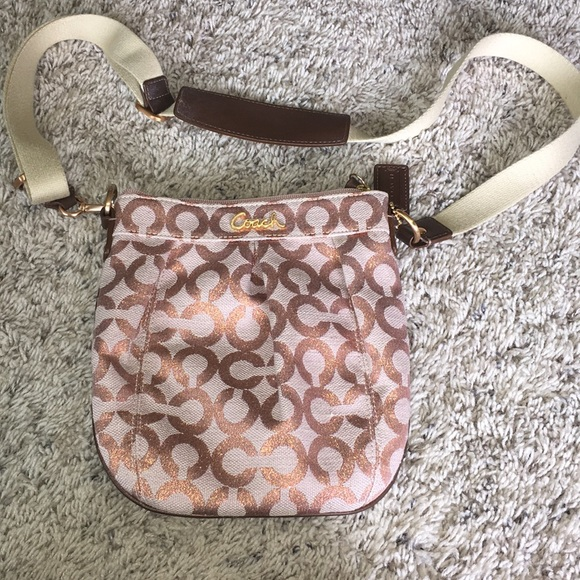 Coach Handbags - Coach metallic monogram crossbody like new